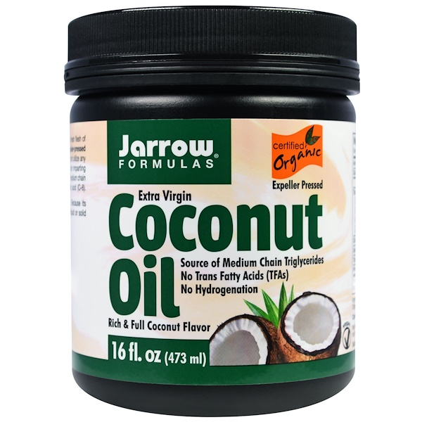 Jarrow Formulas, Organic, Extra Virgin Coconut Oil, 16 oz (473 g)